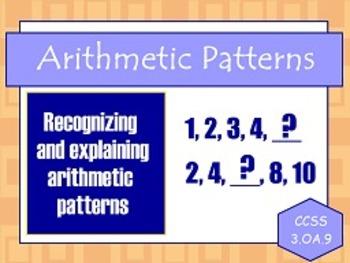 Arithmetic Patterns OA.9 FLIPCHARTS!