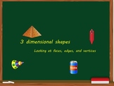 Smart Board Lesson: 3 dimensional shapes meets common core