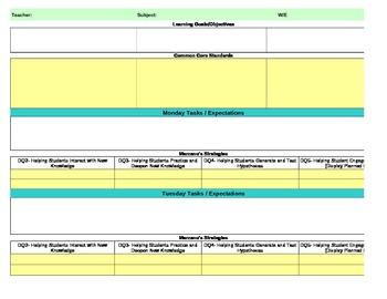 Common Core/Marzano Interactive Lesson Plan... by Pam Aursland ...