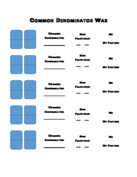 Common Denominator War