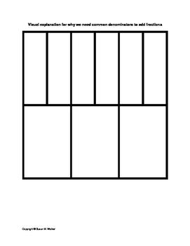 Common Denominators for Adding & Subtracting Fractions...W