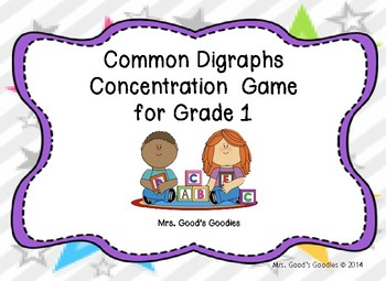 Common Diagraphs Concentration Game for Grade 1