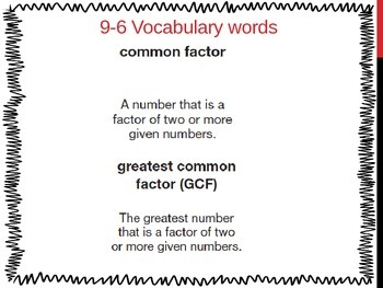 Common Factors and Greatest Common Factor (5th Grade EnVis