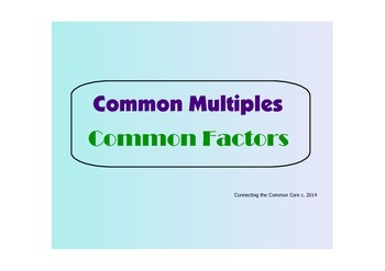 Multiples and  Factors - PDF Visuals for Classroom Use and