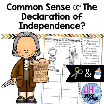 Common Sense VS Declaration of Independence: Cut and Paste