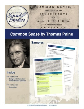 Common Sense handout and worksheet