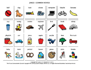 Common Words Zingo! [speech therapy and autism]