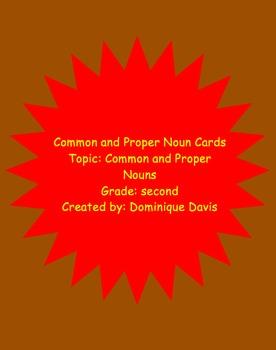 Common and Proper Noun Cards