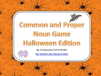 Common and Proper Noun Sorting Game (Halloween Edition)