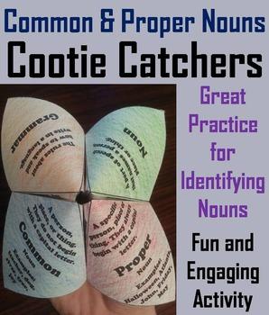 Common and Proper Nouns Activity 2nd 3rd 4th 5th Grade Gra