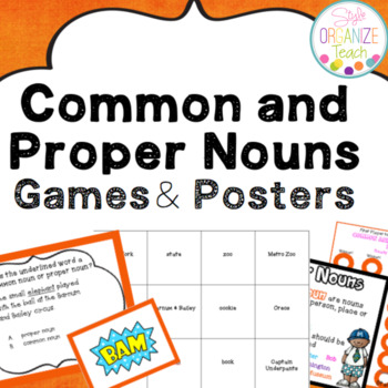 Common and Proper Nouns Task Cards