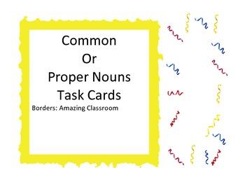 Common or Proper Noun Task Cards