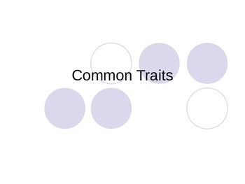 Common physical traits