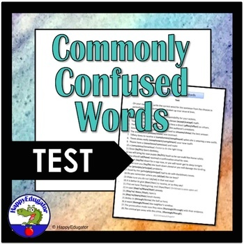 Commonly Confused Words TEST