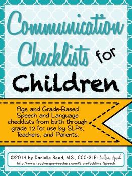 Communication Checklists for Children