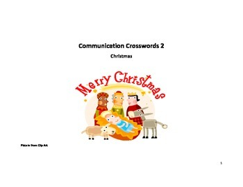 Communication Crossword- Christmas spealikn activity