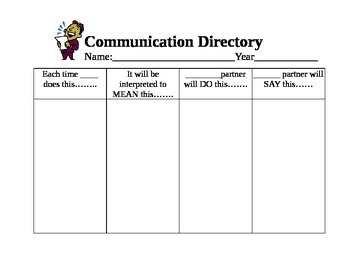 Communication Log or Directory for Severe Profound students