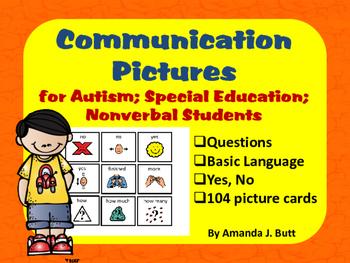 Communication Picture Cards; Speech; Autism; Special Educa