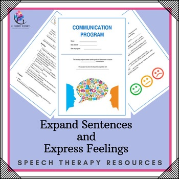 Communication Program - Goals: expand sentences and expres