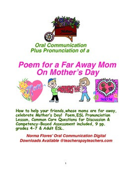 Communication & Pronunciation of a Poem for a Far Away Mom