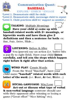 Communication Quest: BASEBALL