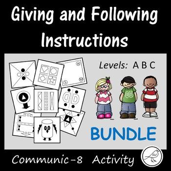 Communication Skills  -  Communic-8 Game  -  BUNDLE -  Lev