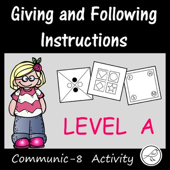 Oral Language Game -  Giving and following instructions (Level A)