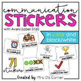 Communication Stickers (From Teachers to Parents)