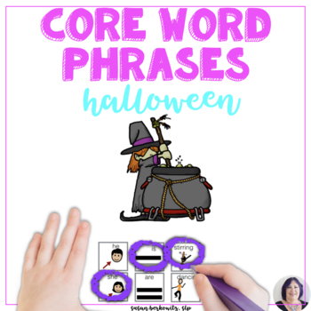 Communication Symbol Phrases & Sentences Practice for Halloween