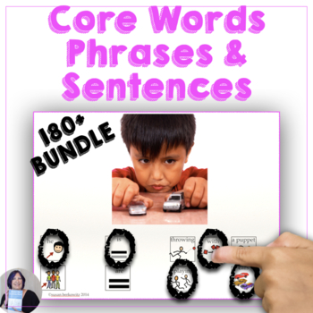 AAC Communication Symbol Sentences Bundle for Speech Therapy