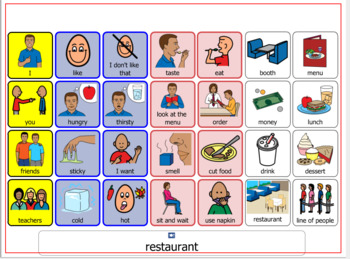 Autism Visual Support and more-Communication/Topic board: