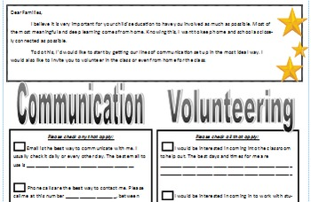 Communication and Volunteering Letter