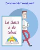 Communication orale:  la classe de français a du talent!