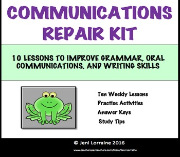 Communications Repair Kit Summary
