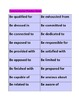 Gear up for Grammar:Verb and Adjective Preposition Combinations!