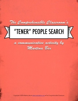"Communicative Activity: ""Tener"" People hunt for Spanish 1"