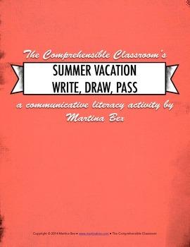 Communicative activity: Summer Vacation Write, Draw, Pass