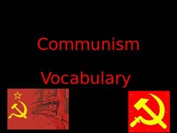 Communism Vocabulary