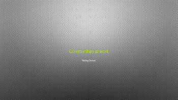 Communities At Work, Chapter 1