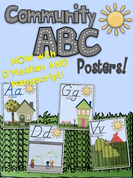 Community ABC Posters!!! D'Nealian & Manuscript Sets