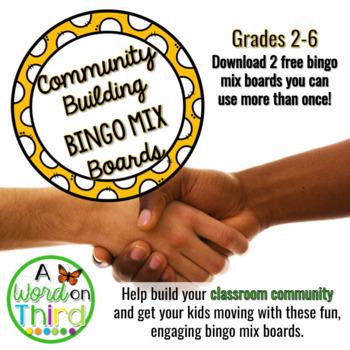 Community Building Bingo Brain Breaks Freebie