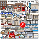 Community Buildings Clip Art ~ City and Town Clip Art ~ Bu