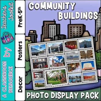 Community Buildings Photo Poster Display Pack {UK Teaching