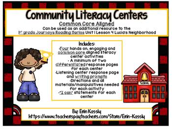Community Helpers Common Core Literacy Centers- Lucia's Ne
