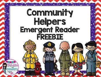 Community Helper Emergent reader FREEBIE