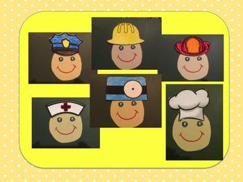 6 Community Helper Hats Craft & writing promt
