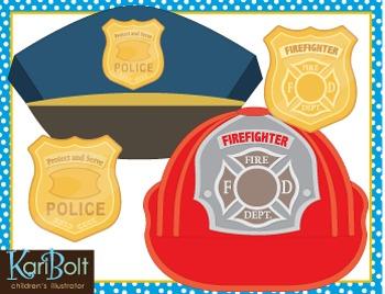 Community Helper Hats and Badges Craft - FREE