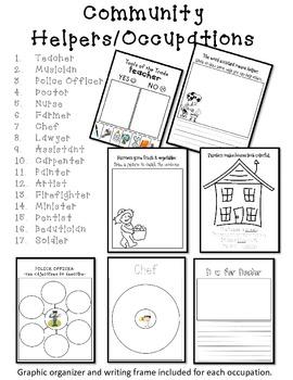 Community Helper & Occupations Packet (Kindergarten Social