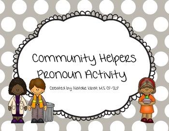 Community Helper Pronoun Language Activity