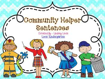 Community Helper Sentences  {Pocket Chart Stations}
